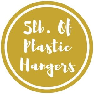 Other - 5. Pounds of Plastic Hangers